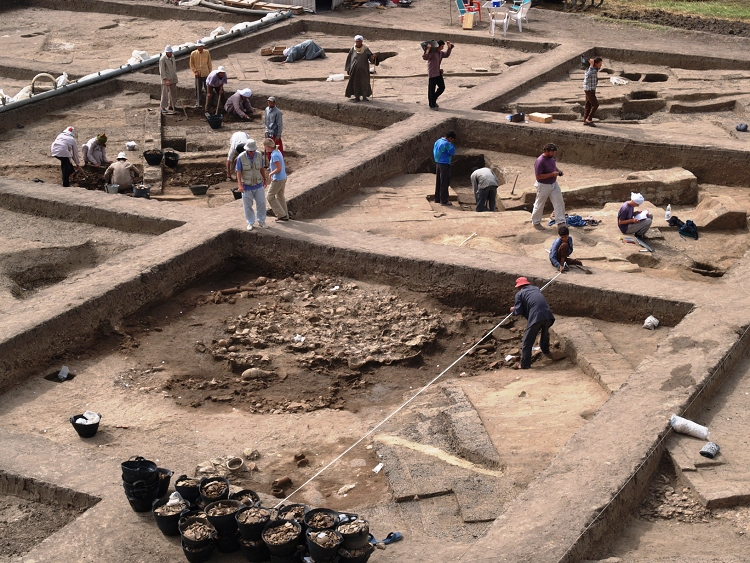Since 2005, the professor emeritus from the University of Vienna, Manfred Bietak, has unearthed a large palace district from the Hyksos period.