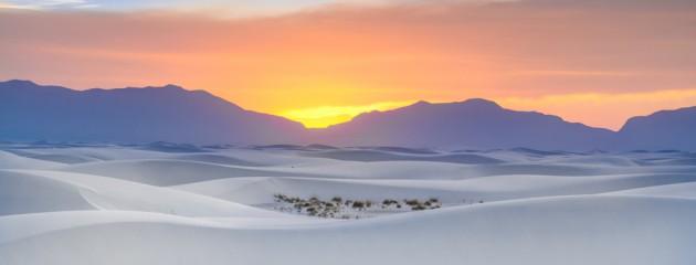 Sonneuntergang in den White Sands