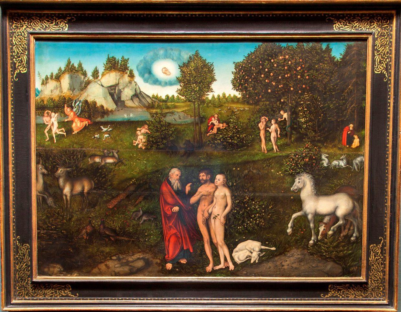 """WissenschafterInnen der Universität Wien untersuchen die Auswirkungen der kulturellen Prägung beim Betrachten von Kunstwerken wie dem berühmten Bild """"Das Paradies"""" (1530) von Lucas Cranach d. Ä. im Kunsthistorischen Museum Wien."""