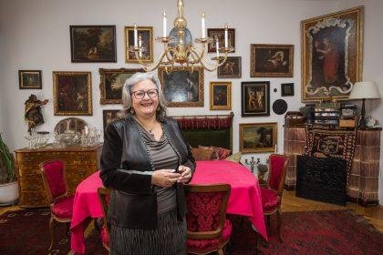 Bible scholar Irmtraud Fischer in her home in Graz, Austria.