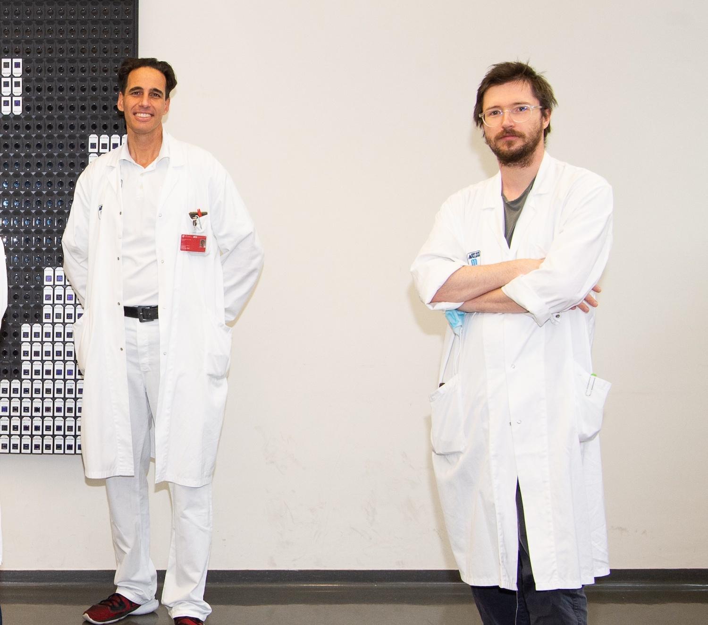 Die Mediziner Manfred Hecking und Roman Reindl-Schwaighofer
